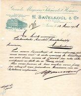 1 Factuur Antwerpen H.Savelkoul & C° Grands Magasins De Vêtements Pour Hommes Kipdorp  C1906 - 1900 – 1949