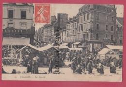 14 - FALAISE----Le Marché---belle Animation - Falaise