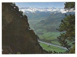 Liechtenstein: Fürstensteig, Rheintal, Piz Sol Sardona-Gletscher Glacier (S. Eberle, Triesenberg) Ungelaufen Non Circulé - Liechtenstein