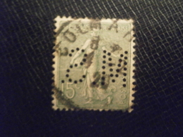 FRANCE TIMBRE SEMEUSE 130 MS119 PERFORE PERFORES PERFIN PERCE PERFO PERFINS PERFORATION PERFORIERT LOCHUNG PERFORATI - Perfins