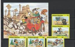 Antigua E Barbuda - Set E Shet Anno 1985 - Disney