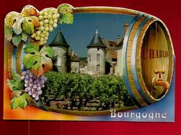CP 89 Bourgogne Chablis Chardonnay - Tonneau Vin Vigne Raisin Robinet - Ed Valoire Blois - Chablis