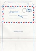 FRANCE - AEROGRAMME  SPECIMEN BLEU CONCORDE 3.10 POUR LE CENTRE D'ENSEIGNEMENT DE LA POSTE - CLERMONT FD 63 / TBS - Aérogrammes