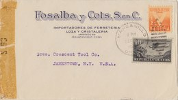CUBA 1946 Examined Cover To USA.BARGAIN.!! - Cuba