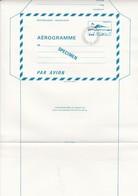 FRANCE - AEROGRAMME  SPECIMEN BLEU CONCORDE 1.60 POUR LE CENTRE D'INSTRUCTION DE LA POSTE - CLERMONT FD 63 / TBS - Aérogrammes