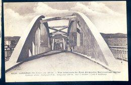 Cpa Du 43 Langeac Vue Intérieur Du Pont Alexandre Bertrand Sur L' Allier     JM2 - Langeac
