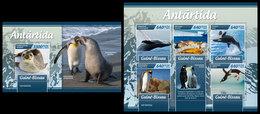 GUINEA BISSAU 2019 - Antarctica. M/S + S/S. Official Issue - Antarctic Wildlife
