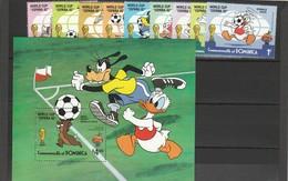 Dominica - Disney - Set E Shet  Yvert N 720/28 E Bf N. 73  Anno 1982 - Disney