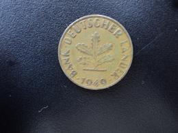 RÉPUBLIQUE FÉDÉRALE ALLEMANDE : 10 PFENNIG   1949 D   KM 103     TTB - 10 Pfennig