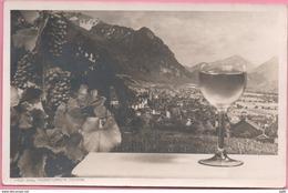 Liechtenstein: Bild-PK CPI Vaduz Geg.Falknisgruppe Calanda (Weinglas Verre De Vin) Zu 190 Mi 226 Yv 201 O VADUZ 28.IX.46 - Liechtenstein