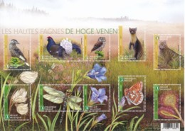 BE 2017 - Faune & Flore Des Hautes Fagnes - Timbres & Bloc ** - Sous Faciale De €19.60 - Belgique