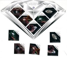 Feuillet + 5 Timbres 1 Europe - Diamants - Facial €14.00 - Nuovi