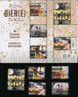 Feuillet + 5 Timbres 1 World - La Culture De La Bière En Belgique - Facial €16.20 - Nuovi