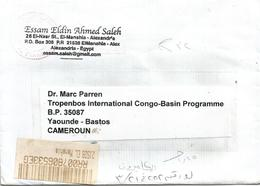 "Egypt 2010 Alexandria El Manshia Meter Pitney Bowes ""A900"" EMA Registered Cover - Brieven En Documenten"