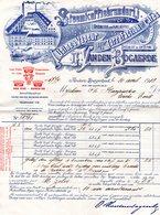 1 Factuur Antwerpen-Borgerhout Stoomkoffiebranderij O.Vanden Bogaerde C1913 Van Geertstraat Usine à Vapeur Fijne Koffies - 1900 – 1949