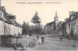18 - JUSSY LE CHAUDRIER Entrée Route De Sancergues ( Animation : Groupe D'enfants ) CPA Village (620 H) - Cher ( Berry ) - France