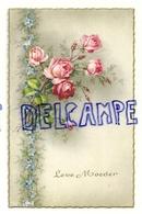 Leve Moeder. Roses Et Myosotis. Dentelée, Bords Dorés. Coloprint Spécial 6926 - Fête Des Mères