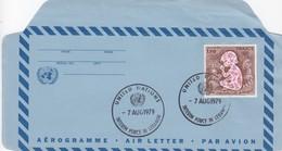 UNITED NATIONS - AEROGRAMME  - CACHET INTERIM FORCE IN LEBANON 7 AUG 1979   /3 - New-York - Siège De L'ONU
