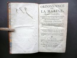 Ordonnance De La Marine Aout 1681 Paris Prault 1757 Marina Navigazione Commercio - Libri, Riviste, Fumetti