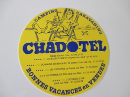 Autocollant Camping Chadotel - Stickers