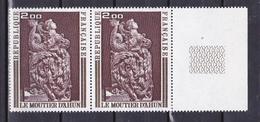 N° 1743 Oeuvres D'Art :Boiserie Du Moutie D'Ahun :Une Paire De 2 Timbres Neuf - France