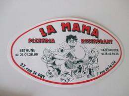 Autocollant Pizzeria La Mama - Stickers