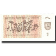 Billet, Lithuania, 1 (Talonas), 1992, 1992, KM:39, SUP - Litouwen