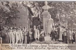 [84] Vaucluse > Avignon Carte Photo Hommage à Agricol Perdiguier Par Les Compagnons Menuisiers 15/10/1922 RARE RECHERCHE - Avignon