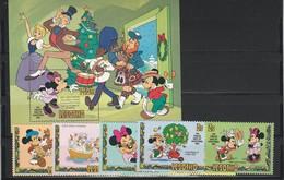 S. Vincent - Disney -  Set E Shet   MNH - Yvert  N.511/18 Bf N.16 - Disney