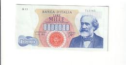 1000 LIRE VERDI I° TIPO 14 07 1962  Bb+/Q.spl  LOTTO 1896 - [ 2] 1946-… : Repubblica