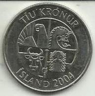 10 Kronur 2004 Islândia - Islande