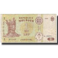 Billet, Moldova, 1 Leu, 2002, 2002, KM:8e, TB - Moldavie
