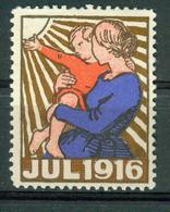 VI Vignette Norway 1916, Christmas Label - Cinderellas