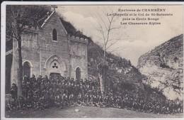 Militaria > Régiments Groupe De Chasseurs Alpinsdevant La Chapelle De St Alban-Leysse Et Col De St-Saturnin - Regimientos