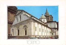 """3740"""" TORINO-DUOMO SAN GIOVANNI E CAPPELLA DELLA SANTA SINDONE """" ANIMATA-AUTO ANNI '70-80 - CART. POST. OR. NON SPED. - Churches"""