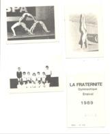 """Lot De 3 Calendriers De Poche 1989 """" La Fraternité """" Gymnastique à ENSIVAL ( Verviers ) - Gymnaste,... (van) - Petit Format : 1981-90"""