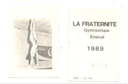 """Calendrier De Poche 1989 """" La Fraternité """" Gymnastique à ENSIVAL ( Verviers ) - Gymnaste,excercice,... (van) - Calendars"""