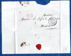 Plis / De Paris / Pour Macon  / 15 Août 1837 - 1801-1848: Precursors XIX
