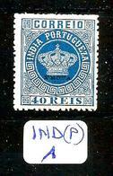 """IND (P) YT  45 (B) Surchargé """" PROVA """" Réimpression De 1885 En (X) - Inde Portugaise"""