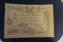 Certificat De Participation A L'emprunt Défense Nationale Pour La Patrie 1915 - Shareholdings