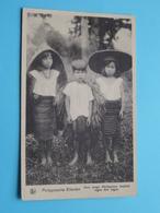 """Drie Jonge PHILIPPINOS """" Missiën Van SCHEUT ( Philippijnsche Eilanden ) Anno 19?? ( Zie Foto Details ) ! - Missions"""
