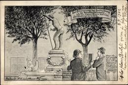 Artiste Cp Strasbourg Straßburg Elsass Bas Rhin, Enthüllung Des Reinhardbrunnens 1902 - France