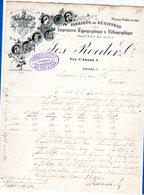 1 Factuur Antwerpen Imprimerie Typographique & Lithographique Jos Roeder & C° C1896 St.andries - Belgium