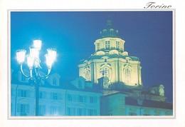 """3742"""" TORINO-CHIESA DI S. LORENZO"""" NOTTURNO - CART. POST. OR. NON SPED. - Churches"""
