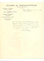 Lettre à Entête - Glacière De JEMEPPE-SUR-MEUSE 1957 (van) - 1950 - ...