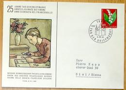 "Schweiz Suisse 1961: ""Maiglöckchen Muguet Mughetto Convallaria Majalis"" O THUN 3.XII.61 TAG DER BRIEFMARKE (Zu CHF 7.00) - Journée Du Timbre"