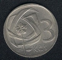 Tschechoslowakei, 3 Korun 1968, XF - Czechoslovakia