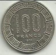 100 Francos 1972 Gabon - Gabón