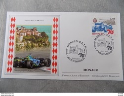 FDC MONACO 2012 : Grand Prix De Formule 1 De Monaco (Timbre De 0.77 Euro) - FDC