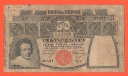 50 Lire 1909 Banco Di Napoli - [ 4] Emissioni Provvisorie
